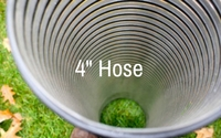 photo of 4 inch diameter leaf vac hose