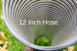 photo of the interior wall of 12 inch leaf vac hose